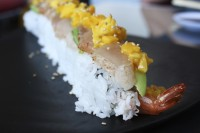 The crab and tempura filled tropical sushi roll topped with albacore tuna, avocado and mango salsa at Zensei Sushi in North Park might not be the most traditional Japanese dish, but it certainly is unique, seen here on Tuesday, Nov. 22, 2011. Photo Credit: Lauren J. Mapp/Staff Photographer