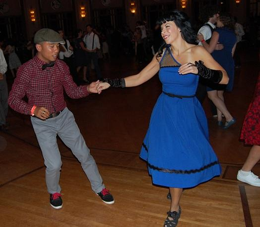 Dance students Jase Dalope and Julie Puccio put the skills they acquired from their classes at the Firehouse to good use during the Catalina Swing Dance Festival on Saturday, Nov. 10, 2012. Photo by Lauren J. Mapp