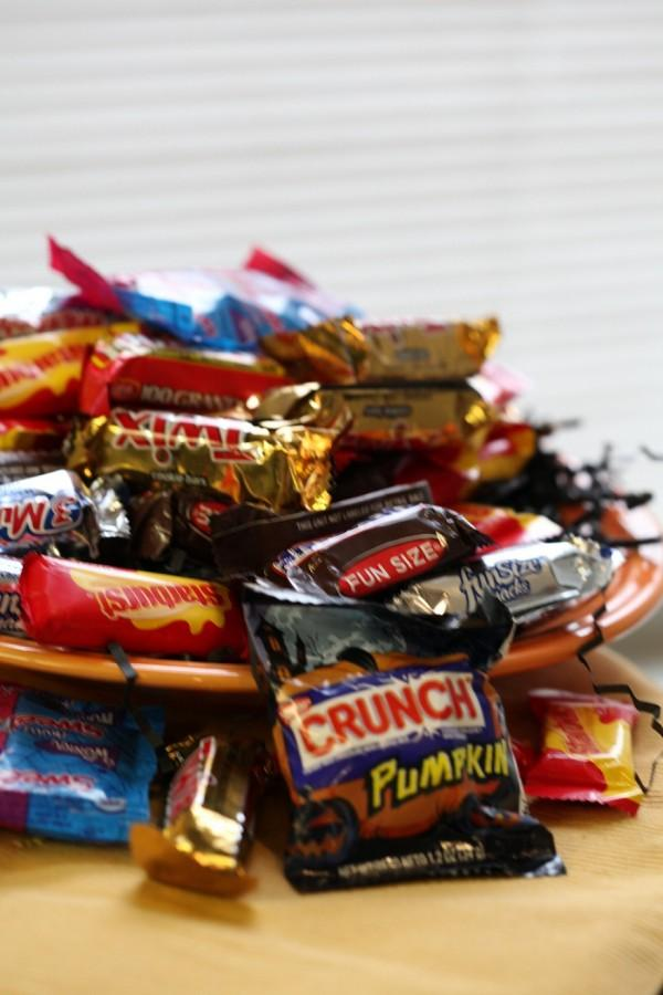 Halloween leftover candy