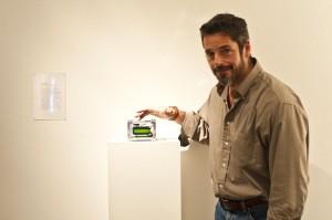 "Artist Dave Ghilarducci operating ""Procrastination""."