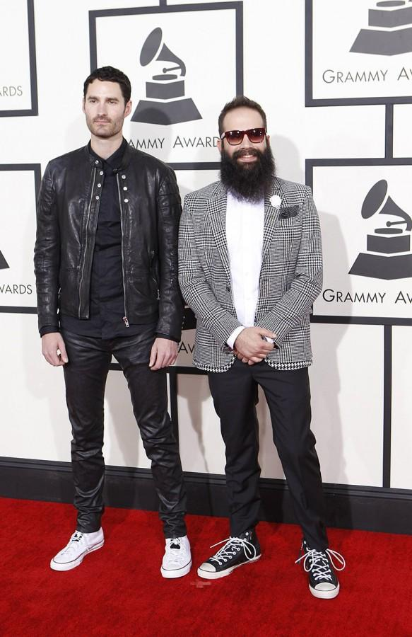 Capital Cities arrives for the 56th Annual Grammy Awards at Staples Center in Los Angeles, Sunday, January 26, 2014.  (Wally Skalij/Los Angeles Times/MCT