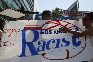 People in L.A. protesting the Los Angeles Clippers. Photo Courtesy of MCT Campus