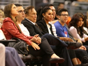 Clippers Owner Donald Sterling sitting next to rumored mistress V. Stiviano. Photo Courtesy of MCT Campus
