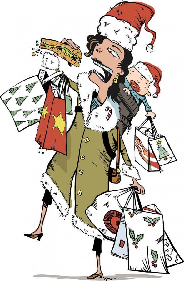 Holiday stress illustration