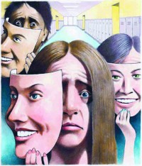 ILLUSTRATION: Student depression