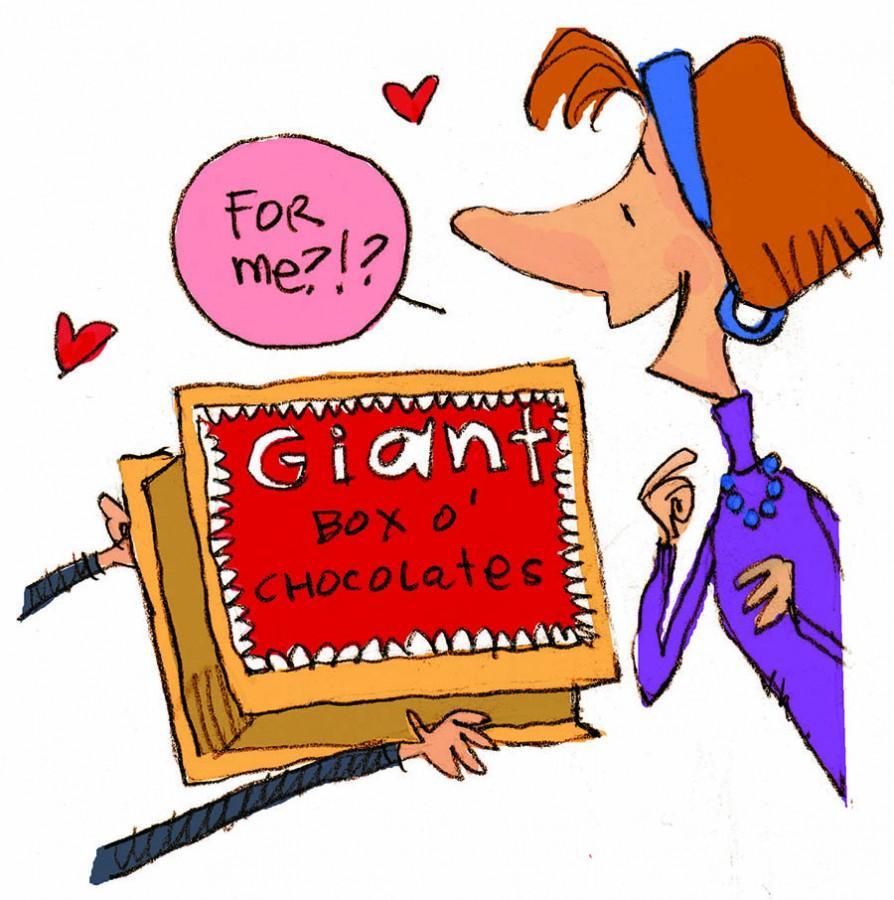 ILLUSTRATION: Valentines Day chocolates