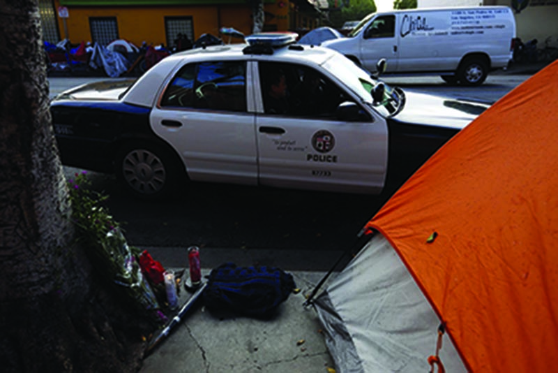 HOmeless man attacked transient before LAPD officers shot him