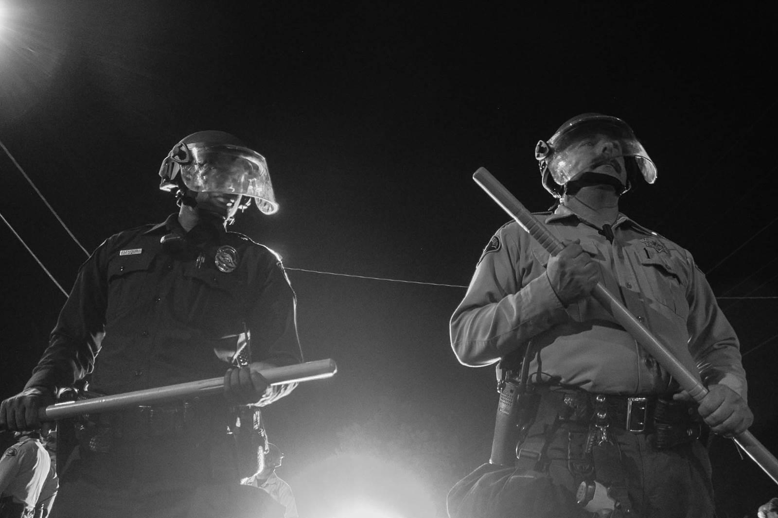 El Cajon Police Department prepared for protests in riot gear.