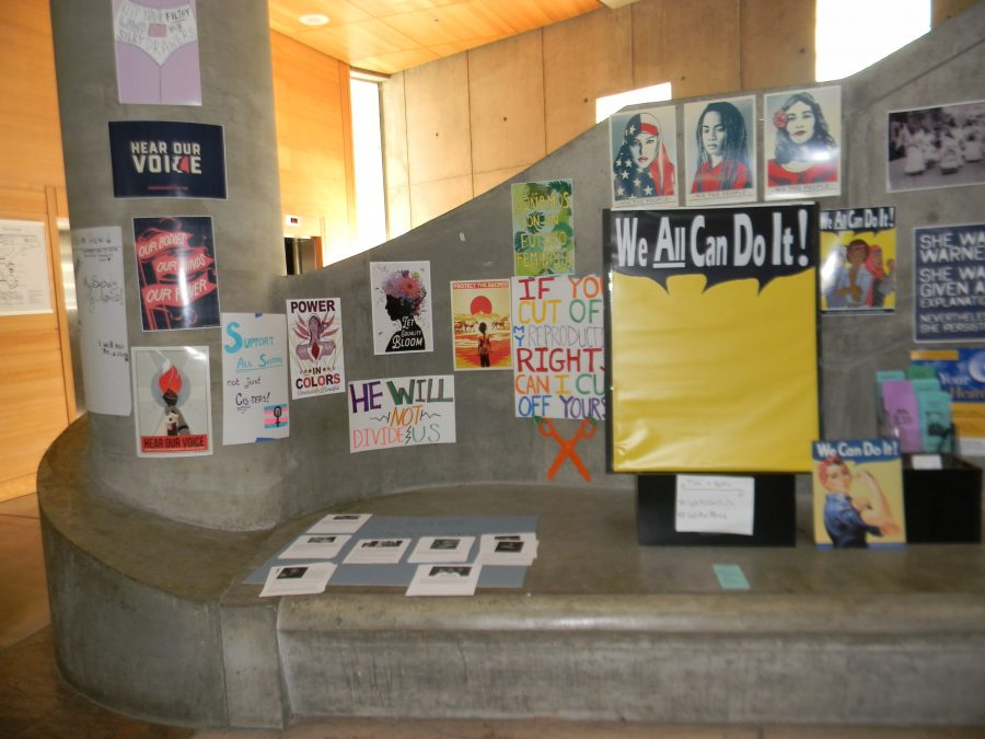 Art created by Mesa students on displaying the LRC until April 1.