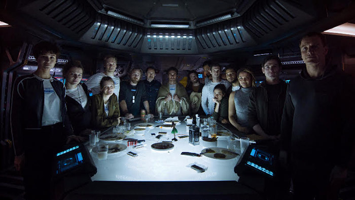 The cast from the film, Alien: Covenant (20th Century Fox, MCT Campus).