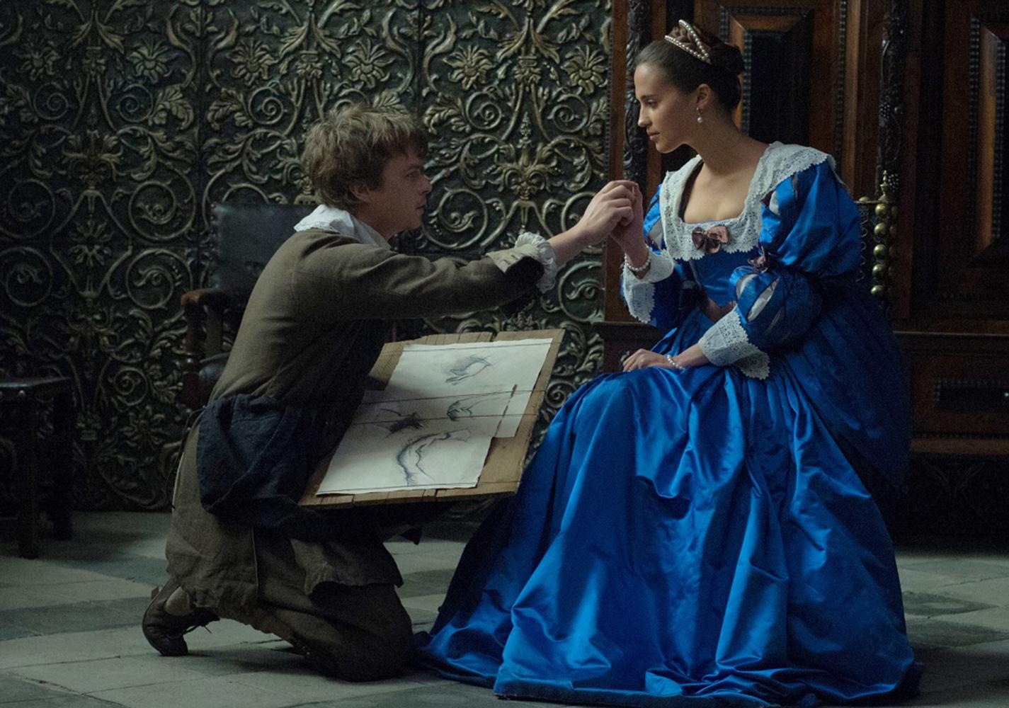 Dane Dehaan and Alicia Vikander play Jan Van Loos and Sophia in