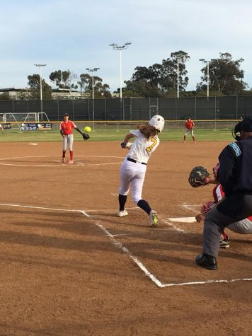 Mesa softball scores 14-8 in a win against College of the desert