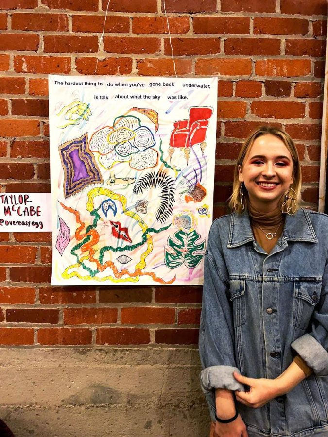 Student+Taylor+McCabe+showcases+her+art+with+fellow+local+artist+as+a+part+of+%22Color+Theory+Club.%22+Photo+Credit%3A+Mayra+Figueroa+Vazquez.