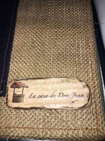 The menu at La casa de Don Juan
