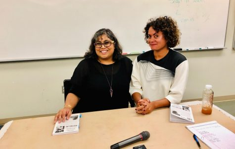 Writer Aruna D'Sousa and UCSD Professor Nicole Miller visit Mesa College