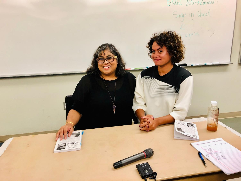 Writer Aruna D'Sousa and UCSD Professor and filmmaker, Nicole Miller.   Photo credit: Barbara Prevost-Nedd
