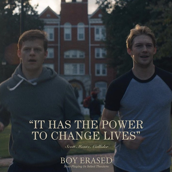 Brilliant film adaptation of Boy Erased by Joel Edgerton
