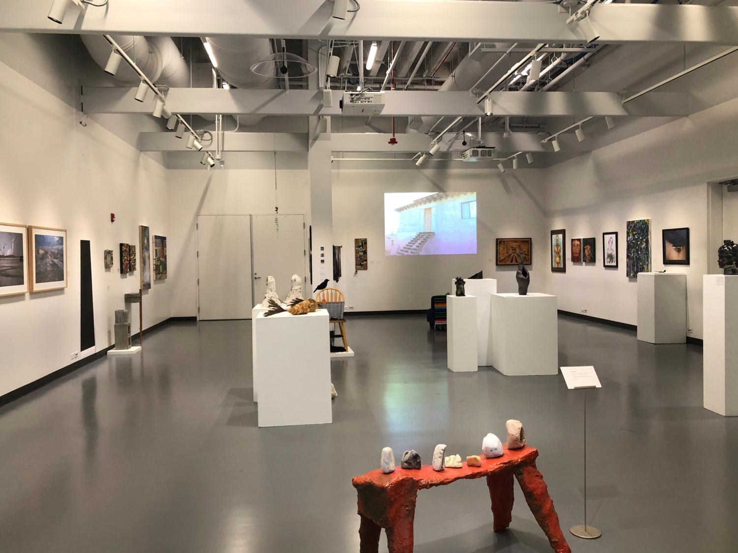 Empty art gallery in new Fine Arts building at Mesa College