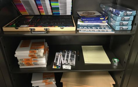 An art supply lending library is now available on campus