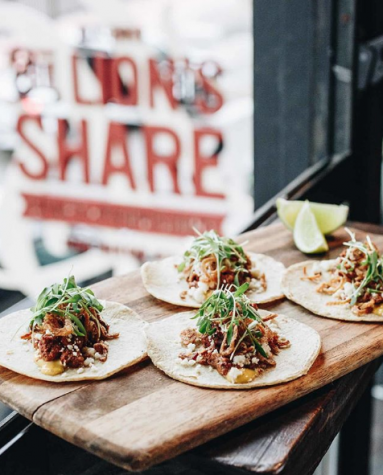 Camel ribeye marinated with fermented fresno chiles, poblano aioli, queso fresco, crispy shallots, and cilantro, all wrapped up in a warm corn tortilla.