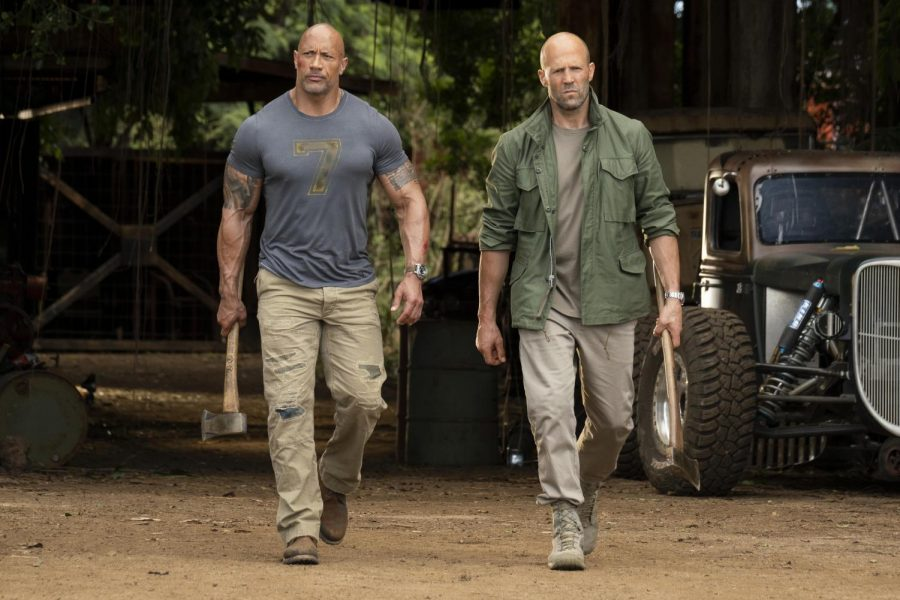 Dwayne Johnson (left) and Jason Statham (right) combine forces in the newest
