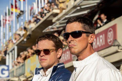 """Matt Damon (left) and Christian Bale (right) pay tribute in """"Ford v Ferrari."""""""