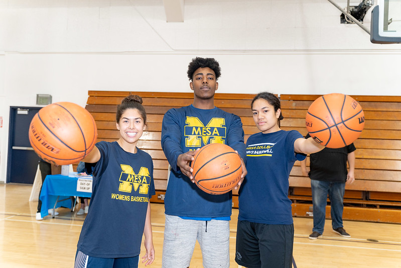 First place winners of the Resiliency Fund Free Throw Challenge Fundraiser event pose for the camera.