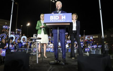 Joe Biden speaks after his Super Tuesday victory.