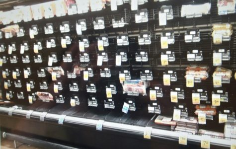 Vons' bacon section was almost stripped bare during the COVID-19 pandemic.