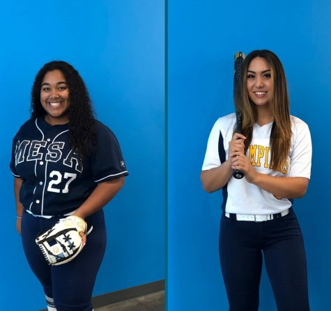 Gonzalez and Wright led the Olympians in batting average, home runs and RBIs.           Photo Credit: Assistant Coach Nicole Dall
