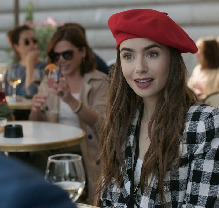 "Lily Collins stars in ""Emily in Paris."""