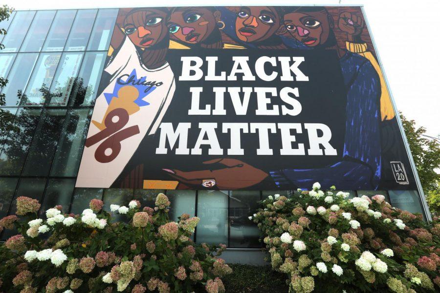 A BlackLivesMatter mural in Chicago