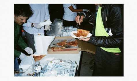 Local Clothing Designer Invites the homeless to pull up and eat