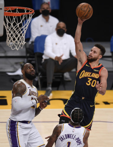 The Golden State Warriors will play the Los Angeles Lakers at Staples Center in Los Angeles on May 19, 2021, for the NBAs inaugural play-in tournament.