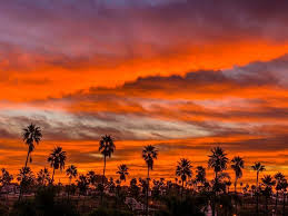 Sunsets in the San Diego County tend to look like this in the fall.