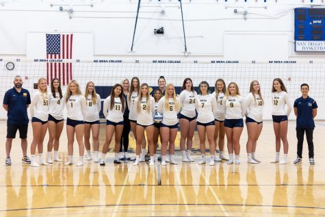 The Womens Volleyball team for the 2021 season. So far, winning over 10 games and looking ready to dominate the playoffs.
