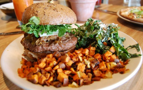 True Food Kitchen's robust bison burger is a great, lean alternative to beef. Served on a flaxseed bun with a side of sweet potato hash and kale salad, this dish is both mouthwatering and well-balanced. Photo Credit: Lauren J. Mapp/Editor-in-Chief