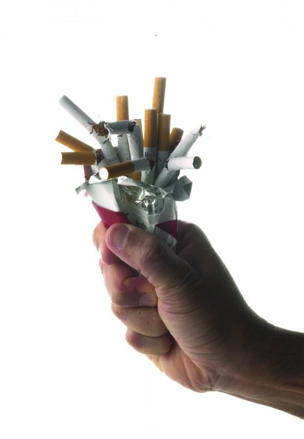 Cigarettes go up in smoke