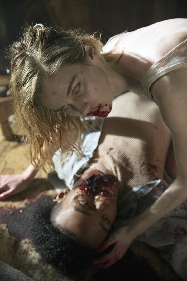"""The zombies on """"Fear the Walking Dead"""" -- in this case, actress Lexi Johnson as the undead Gloria -- are a bit fresher than we're used to. (Justin Lubin/AMC/TNS)"""