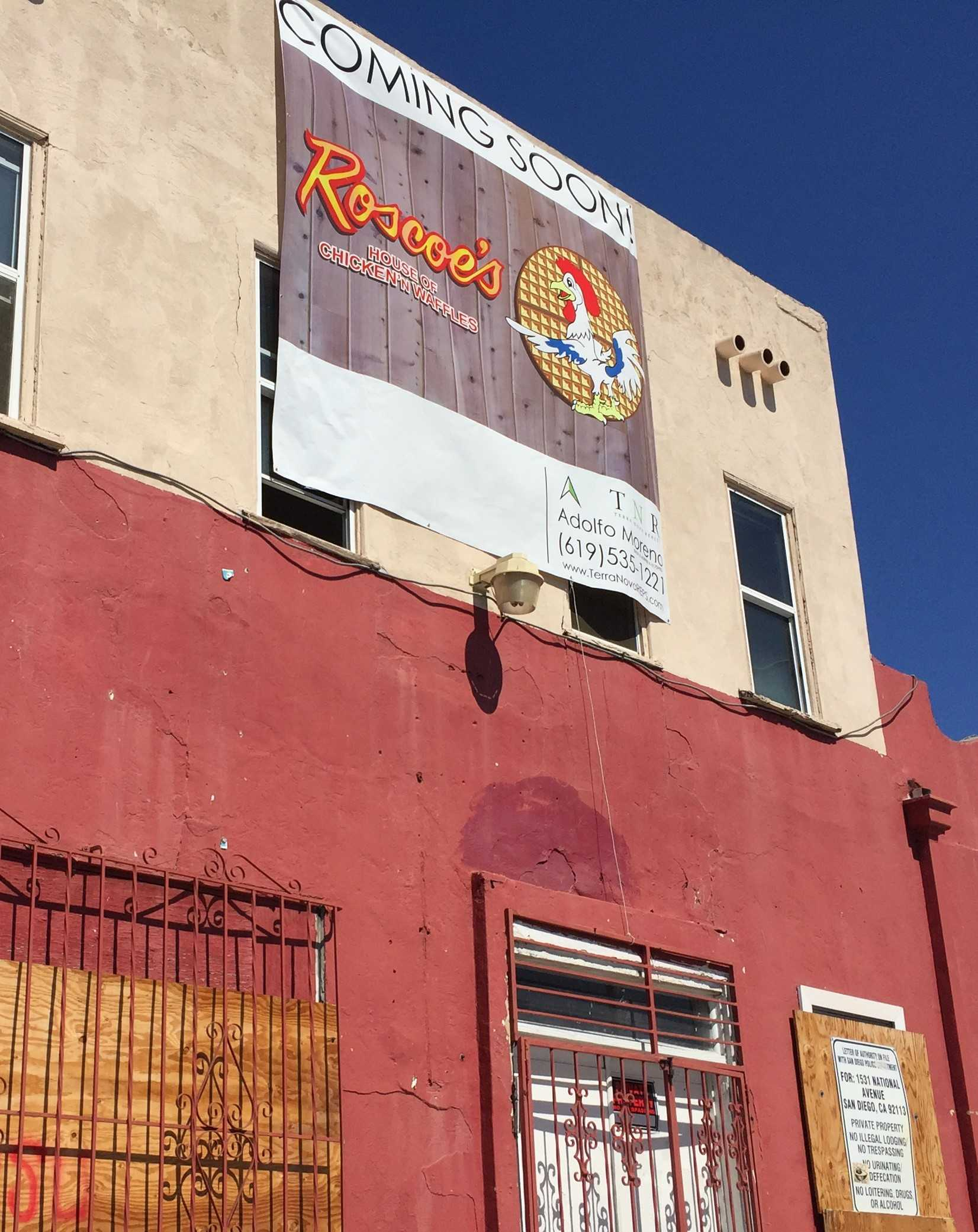Site of the future San Diego Roscoe's House of Chicken and Waffles on National ave.