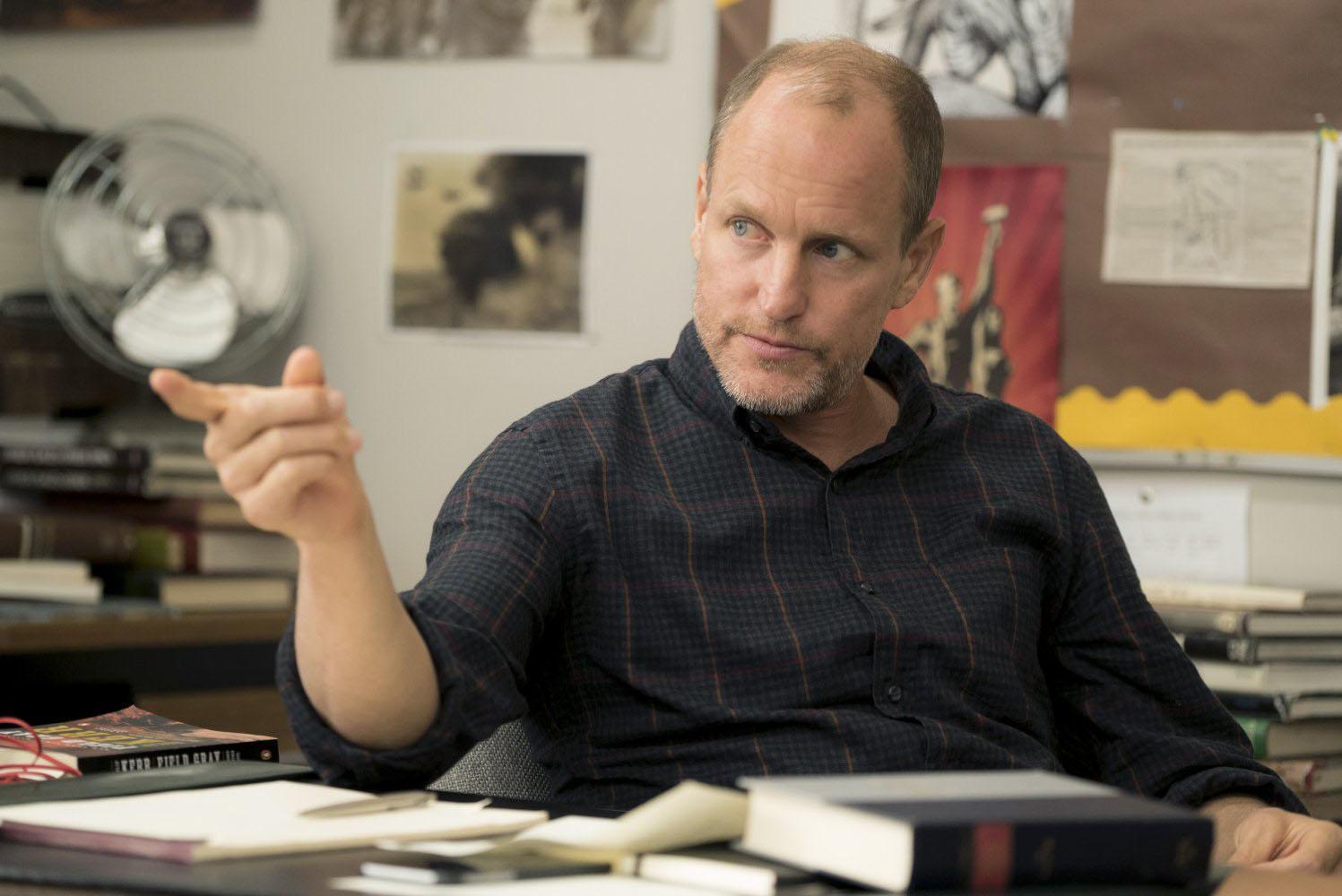Woody Harrelson as Mr. Bruner in the movie