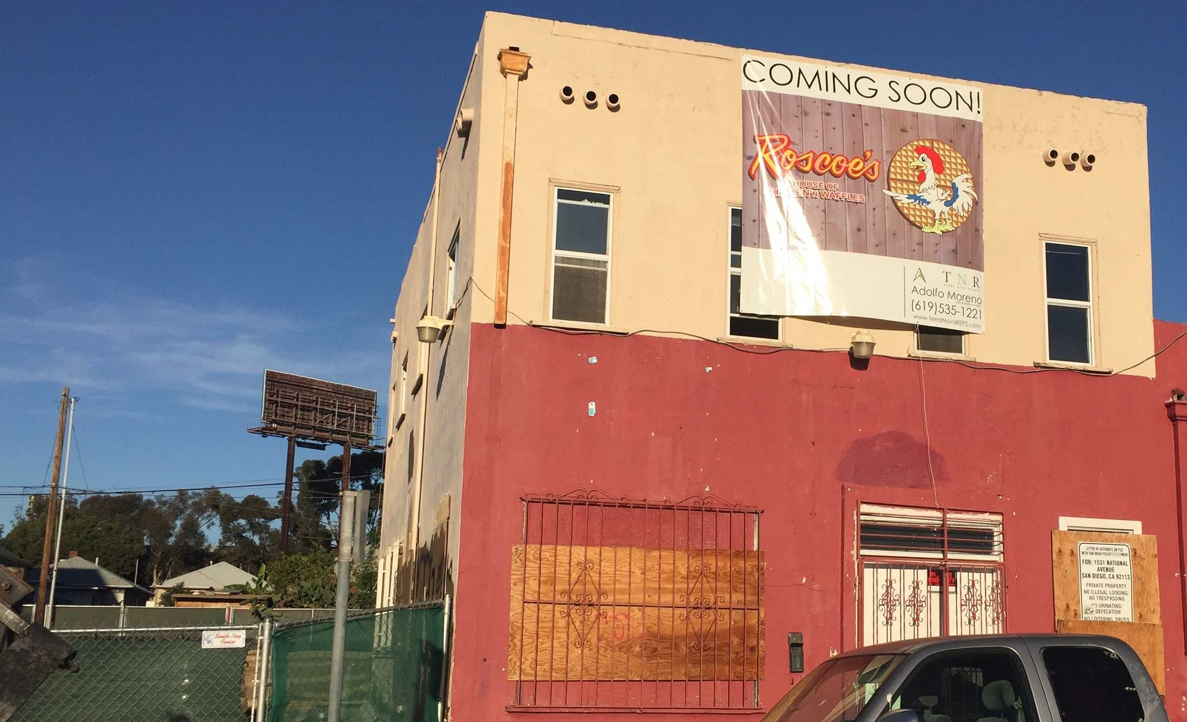 The building for the new Roscoe's is still not yet complete.