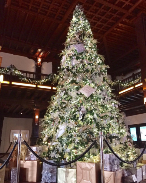 Hotel del Coronado shows off their festive tree for the holiday season.