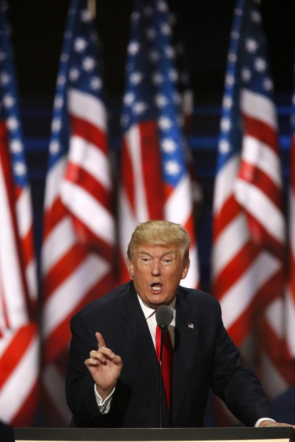 Republican presidential candidate Donald Trump accepts the party's nomination (Carolyn Cole)