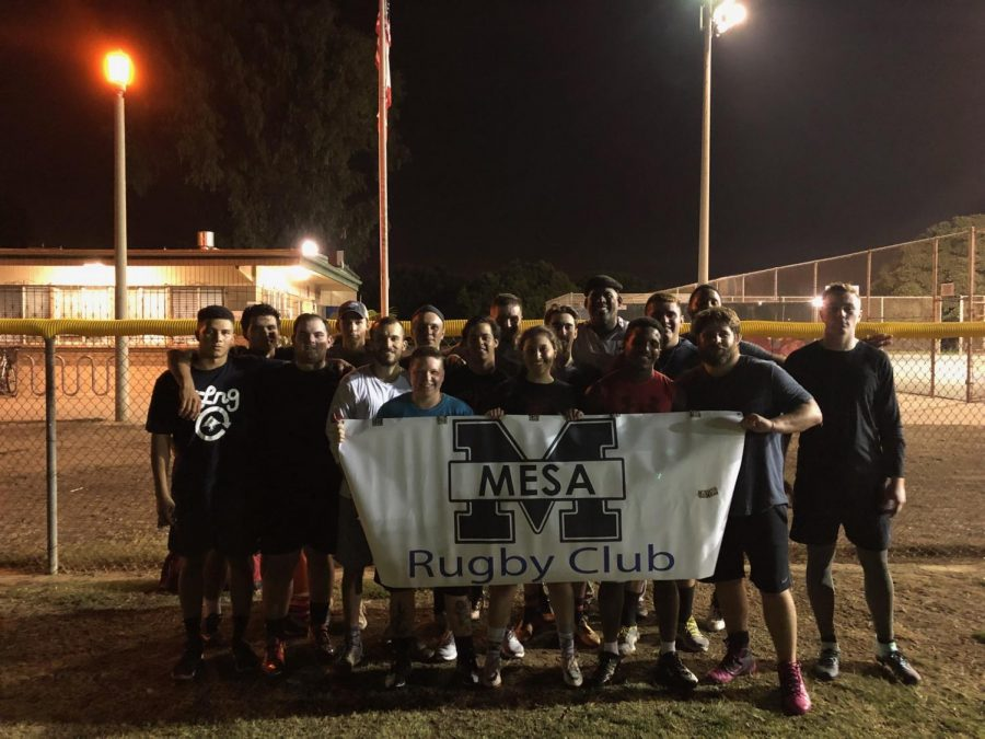 Mesa+College%27s+rugby+club+enjoying+the+end+of+their+practice.