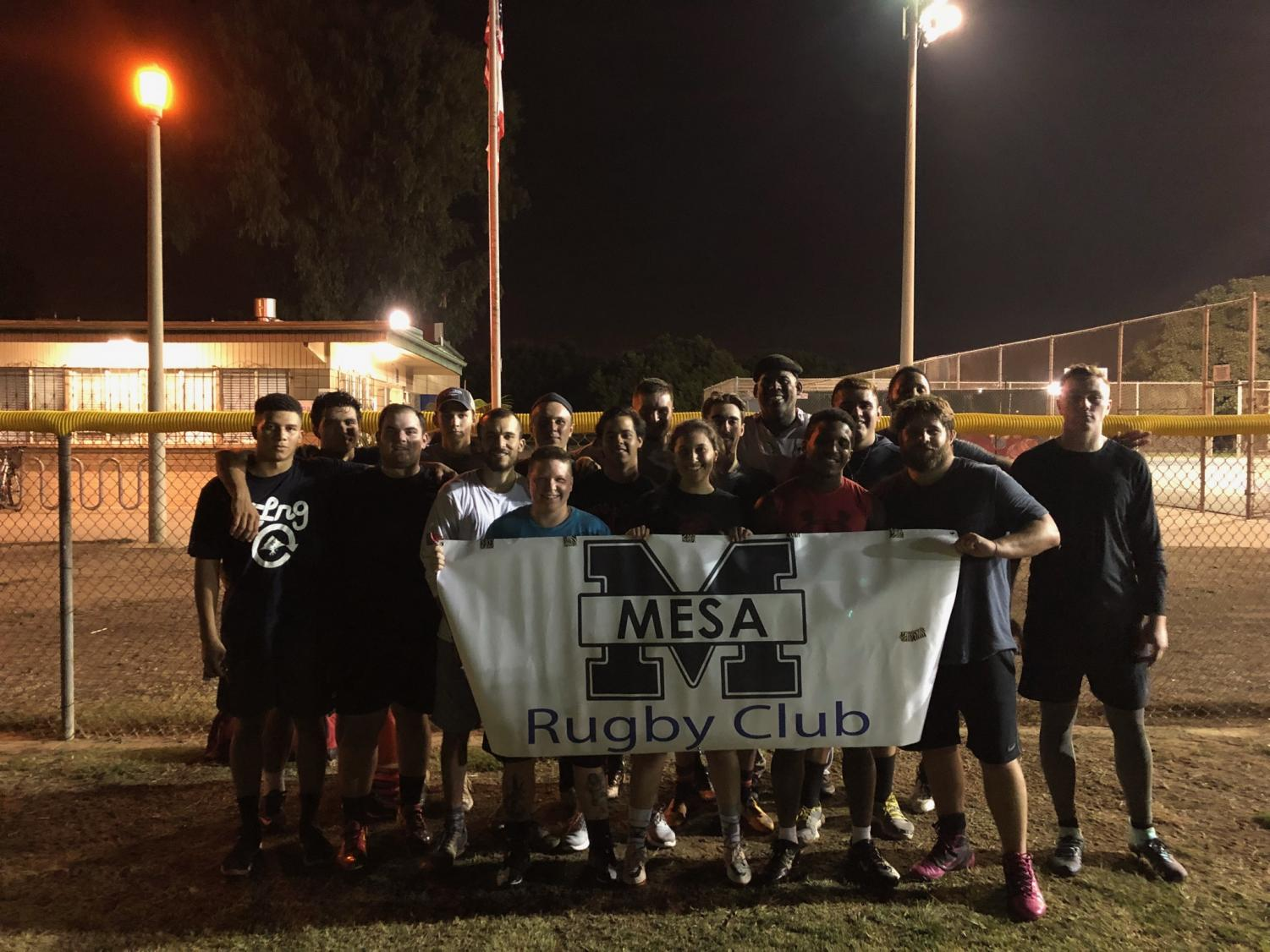 Mesa College's rugby club enjoying the end of their practice.