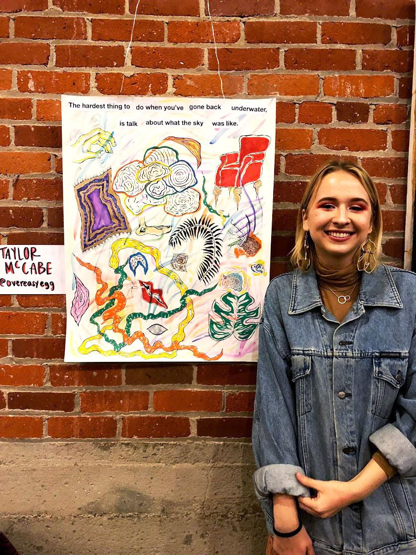 Student Taylor McCabe showcases her art with fellow local artist as a part of