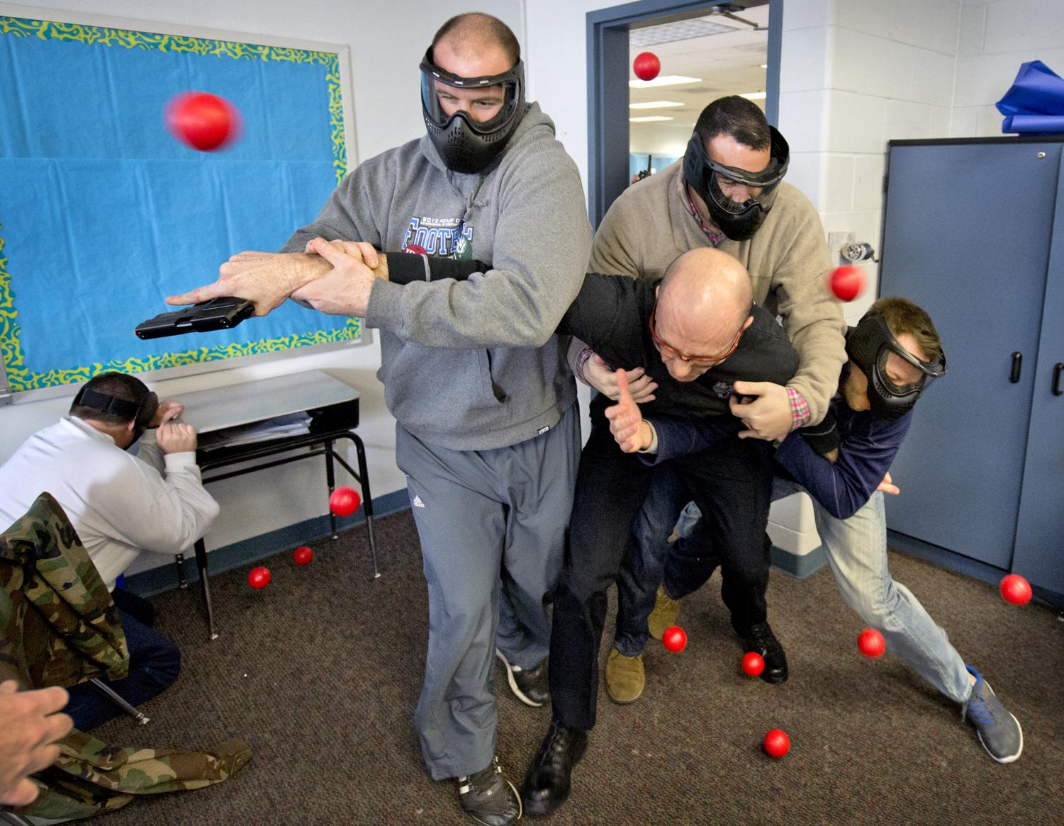 Teachers training for active shooter situations