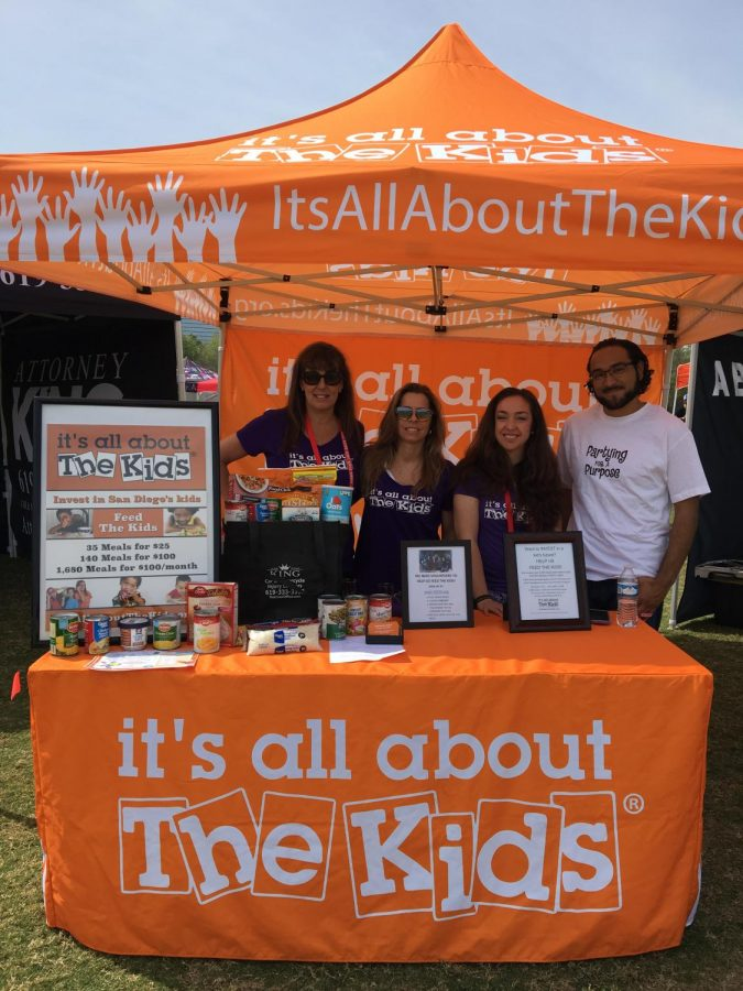 President and co-founder of Its All About The Kids Angela Brannon-Baptiste and her team raise money for their foundation