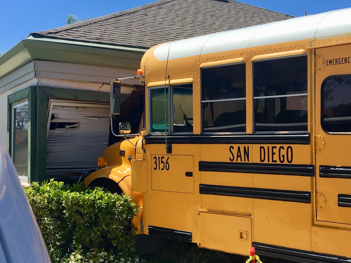 School bus crash at San Diego Center For Children.